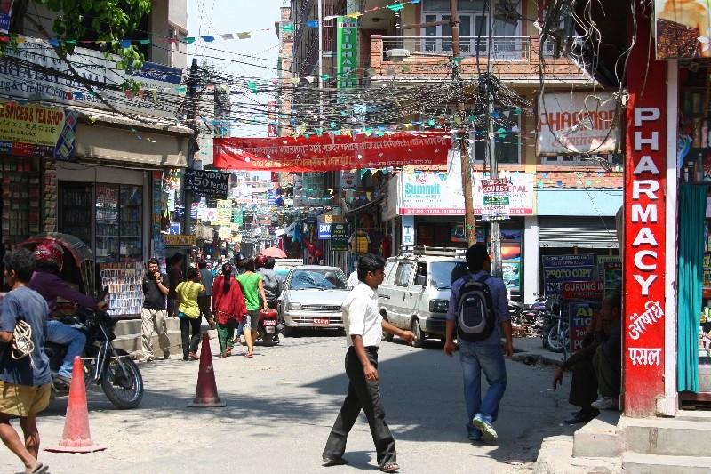 Opravdu prašné a živé Kathmandu